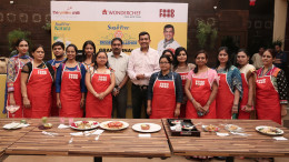 "MUMBAI, DEC 16 (GNI) -- Twelve (12) contestants selected from over 1500 entries at the regional cookouts of the challenge from across the country, fought tooth and nail to produce their finest dessert recipes using SugarFree Natura. The final 12 contestants were judged by none other than ace master chef Sanjeev Kapoor. India found its first ""Best Dessert Chef"" as the Grand Finale of the SugarFree Dessert Challenge concluded at The Yellow Chilli restaurant at Powai in Mumbai on wednesday -- photo by Sumant Gajinkar (GNI)"