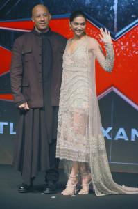 MUMBAI, (GNI): Hollywood actor Vin Diesel with Bollywood actor Deepika Padukone during the promotion their Film XXX: Return of Xander Cage in Mumbai on Thursday evening - Photo by Sumant Gajinkar