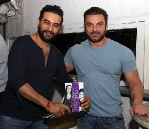 Shekhar Ravijani and Sohail Khan at the book launch of Drama Teen