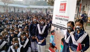 DELHI, (GNI): HDFC ERGO - Pollution Mask Distribution in the Government School in Delhi photo by GNI