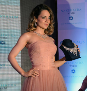 MUMBAI, (GNI): Nakshatra, yesteerday unveiled a new brand campaign led by television commercials featuring its brand ambassador Bollywood Superstar Kangana Ranaut, in Mumbai - photo by GNI