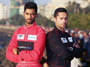 MUMBAI, (GNI): Indian Pilots Gaurav Gill & C S Santosh at Six Teams and the World's best Pilots for Inaugural NEXA P1 Powerboat, Indian Grand Prix of the Seas Unveiled in Mumbai - photo by GNI