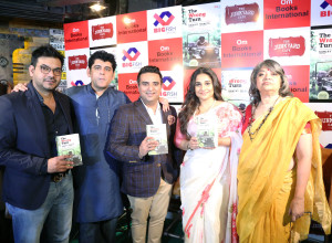 MUMBAI, (GNI): L -R Umang Tewari - Big Fish Ventures, Sanjay Chopra, Ajay Mago- Om Book International, Vidya Balan and Namita Roy Ghose at the launch of the book The Wrong Turn, in Mumbai - Photo by GNI