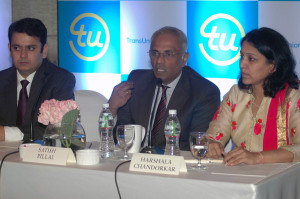 MUMBAI, (GNI); Satish Pillai, MD and CEO of TransUnion CIBIL during TransUnion CIBIL launch CIBIL Micro, Small and Medium Enterprises MSME Rank to help control Non performing assets NPAs and drive credit penetration to MSMEs in Mumbai on Tuesday - Photo by Sumant Gajinkar