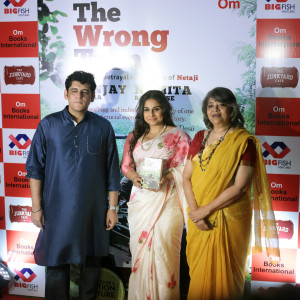 MUMBAI, (GNI): L- R Sanjay Chopra, Vidya Balan, Namita Roy Ghose at the launch of the book The Wrong Turn in Mumbai - photo by GNI