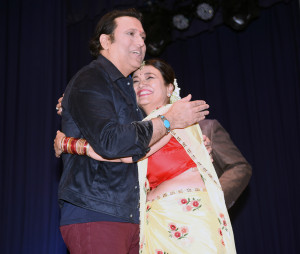 Bollywood actor Govinda with Kamini Khanna