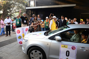 WIAA Ms. Katie Bhatena the first woman  participant of the rally 2017