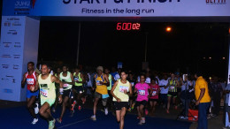 The flagoff of the Juhu Half Marathon, an initiative by Get Fit & Rotary Club of Bombay Airport