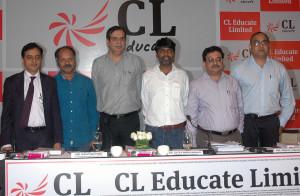 MUMBAI, (GNI): L to R: V Jaya Sankar (Kotak Mahindra Capital Co. Ltd.), R. Shiva Kumar (Chief Academic Officer, C L Educate Limited), Gautam Puri (Vice Chairman & Managing Director, C L Educate Limited), Satya Narayanan R (Chairman & Executive Director, C L Educate Limited), Nikhil Mahajan (Executive Director & CFO, C L Educate Limited) and Sujit Bhattacharyya (Chief Digital Officer, C L Educate Limited) during the announcement of IPO of C L Educate Ltd. in Mumbai on Tuesday - Photo by Sumant Gajinkar