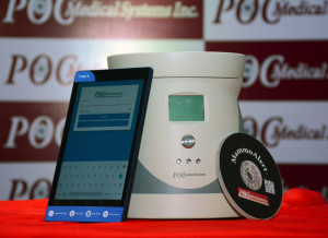 MUMBAI, (GNI): 'MammoAlert' - A disruptive pre-screening test for early 'Breast Cancer Detection' by POC Medical Systems Inc. unveiled at Hotel Trident, in Mumbai today - Photo by GNI