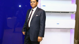 MUMBAI, (GNI): B Thiagarajan, Joint Managing Director, Blue Star Limited at the launch of India's first inverter split AC, at Hotel Trident, in Mumbai -- Photo by Sumant Gajinkar