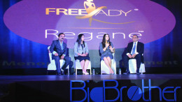 MUMBAI, (GNI): Panelist Ms Neelakshi Singh Sharma, Ms Preity Zinta, Mr R K Sanghavi taking about the product, during the event of BigBrother Nutra Care Pvt. Ltd., a nutraceutical division of BestoChem Formulations launched first-of- its-kind nutraceutical product Freelady–REGANE in India at Novotel Hotel Juhu, Mumbai - photo by GNI