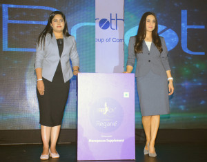 MUMBAI, (GNI): FreeLady - Regane launched by Ms Preity Zinta and Ms Neelakshi Singh Sharma during the event of BigBrother Nutra Care Pvt. Ltd., a nutraceutical division of BestoChem Formulations launched first-of- its-kind nutraceutical product Freelady–REGANE in India at Novotel Hotel Juhu, Mumbai - photo by GNI