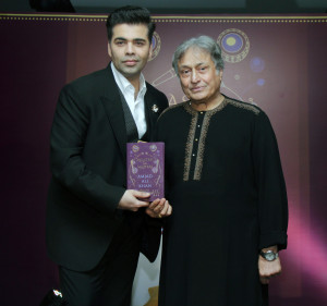 MUMBAI, (GNI); Karan Johar and Ustad Amjad Ali Khan at Ustad Amjad Ali Khan's Master on Masters book release in Mumbai - Photo by GNI
