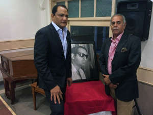 MUMBAI, (GNI): Former India Cricket Captain Mohd Azharuddin and Former India Test Cricketer Yajuvindra Singh who delivered the inaugural Rajsingh Dungarpur Spirit of Cricket Lecture organised by the CCI held at the C.K. Nayudu hall on Saturday.-Photo by Sumant Gajinkar
