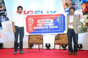 MUMBAI, (GNI): Shibasish Sarkar, COO, Reliance Entertainment & Amit Khanduja, CEO, Reliance Entertainment-Digital  at BigFlix Launch, in Mumbai - Photo by Sumant Gajinkar