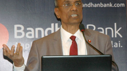 MUMBAI, (GNI): Chandra Shekhar Ghosh, Founder, MD and CEO of Bandhan Bank during announcement the Bank's annual financial result in Mumbai on Thursday -  Photo by Sumant Gajinkar