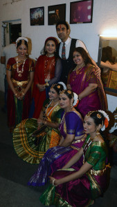 Sandip Soparrkar and Sharbani Mukherji poses and Uma Rele with dancers at India Dance Week