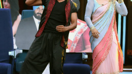 MUMBAI, (GNI): Sunil Grover as Akshay Kumar &  Raveena Tandon relive Tu Cheez Badi Hai Mast on SBK, in Mumbai