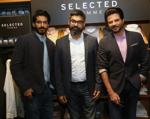 MUMBAI, (GNI): Actor Harshvardhan Kapoor and Anil Kapoor with Vineet Gautam, Country Head, BESTSELLER India, in Mumbai - photo by GNI