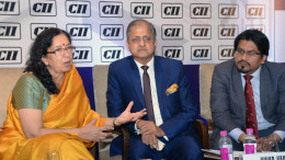 MUMBAI, (GNI): Shikha Sharma, Managing Director & CEO,Axis Bank Ninad Karpe,Chairman, CII Western Region Dr Saugat Mukherjee, CII Regional Director