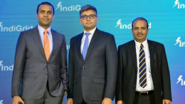 MUMBAI, (GNI): L to R: Pratik Agarwal (CEO, Sterlite Power), Harsh Shah (CFO, Sterlite Power) and Ved Mani Tiwari (COO, Sterlite Power Transmission Ltd.), at the press conference to announce Public Issue of India Grid Trust InvIT units - Photo by Sumant Gajinkar