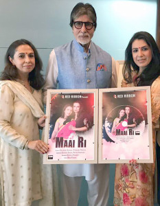 MUMBAI, (GNI): Amitabh Bachchan with Shivrani Somaia during Music Launch of MAAI RI in Mumbai -Photo by GNI