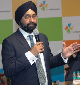 MUMBAI, (GNI): Kavinder Singh, Managing Director and Chief Executive Officer,  Mahindra Holidays & Resorts India Limited announced its Consolidated and Standalone financial results for the quarter ended and year ended March 31, 2017, in Mumbai - photo by Sumant Gajinkar