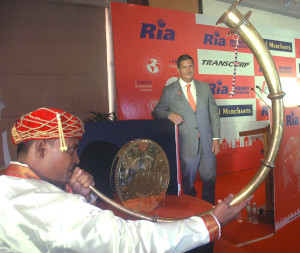 MUMBAI, (GNI): Juan C Bianchi, President and CEO of Ria MoneyTransfer during announcement the Expands Indian Network by partnering with three leading agents in Mumbai - Photo by Sumant Gajinkar