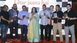 MUMBAI, (GNI): GHAR JAANA HAI Single Release Launch Event from the Album The Stories Untold by Singer Konark Sarangi along with Ila Arun, Sanjay Manjrekar, K.K. Raina, Raj Zutshi and others at hotel Sun-n-Sand Hotel, in Mumbai - Photo by GNI