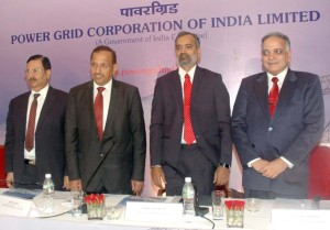 MUMBAI, (GNI): L to R: Ravi P. Singh, Director (Personnel), I. S. Jha, CMD, K Sreekant, Director (Finance) and V. K. Saksena, CVO, Power Grid Corporation of India Limited at the Press Conference in Mumbai - Photo by Sumant Gajinkar