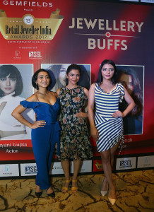 MUMBAI, (GNI): L-R - Sayani Gupta, Shriya Pilgaonkar, Ruhi Singh at the Jury Meet of The 13th Annual Gemfields Retail Jeweller India Awards 2017 in Mumbazi - Photo by Sumant Gajinkar