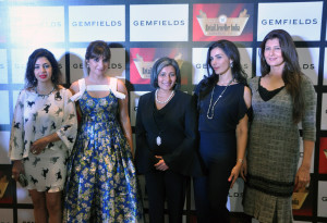 MUMBAI, (GNI): L-R - Nawaz Modi Singhania, Michelle Poonawalla, Schauna Chauhan Saluja (CEO, Parle Agro Pvt. Ltd.) and Sangeeta Bijlani (Actor, Businesswoman and Former Miss India) at the Grand Jury Meet of The 13thAnnual Gemfields Retail Jeweller India Awards 2017 i Mumbai - Photo by Sumant Gajinkar