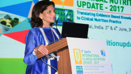 MUMBAI, (GNI): Dr. Preetha Reddy, Vice Chairperson, Apollo Hospitals at The 9th edition of Apollo Hospital's International Clinical Nutrition Update (AICNU) Conference got underway in Mumbai - Photo by GNI