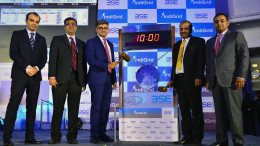 MUMBAI, (GNI): India Grid Trust, an infrastructure investment trust (InvIT) sponsored by Sterlite Power Grid Ventures Ltd. was listed today at the BSE Ltd. IndiGrid InvIT, is the first power sector InvIT to be listed on any exchange in India. At the listing ceremony seen in picture from Left – Right are; Mr Satyen Shah, Edelweiss Financial Services Ltd, Mr Nehal Vora, Chief Regulatory Officer, BSE Ltd, Mr Harsh Shah, IndiGrid InvIT, Mr Ved Mani Tiwari, Chief Operating Officer, Sterlite Power Grid Ventures Ltd and Mr Rahul Saraf, Citigroup Global Markets India Private Limited in Mumbai - Photo by GNI