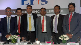 MUMBAI, (GNI): From L-R: Arvind Vashistha, Citigroup Global Markets India, Chirag Negandhi, Axis Capital Limited, Amit Bakshi, Chairman and Managing Director, Eris Lifesciences Ltd, Himanshu Shah, Executive Director, Eris Lifesciences Ltd, Sachin Shah, Chief Financial Officer, Eris Lifesciences Ltd and Sumit Jalan, Credit Suisse Securities (India) Private Limited at the press conference in Mumbai to announce the IPO of Eris Lifesciences Ltd. The issue will open for subscription on Friday 16th and closes on Tuesday 20th June 2017 in Mumbai - Photo by Sumant Gajinkar