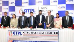 MUMBAI, (GNI): L-R: Girish Nadkarni(Motilal Oswal Investment Advisors Pvt.Ltd), Amishi Kapadia (Yes Securities(India) Ltd, Piyush Pankaj(Head Investor Relations, GTPL Hathway Ltd), Rajan Gupta(Chairman & Director,GTPL Hathway Ltd), Aniruddhasinhji Jadeja ( Managing Director, GTPL Hathway Ltd), Shaji Mathews(Chief Operating Officer, GTPL Hathway Ltd), Neha Agarwal(JM Financial Institutional Securities Ltd) and Ganeshan Murugaiyan(BNP Paribas) during the IPO conference in Mumbai - Photo by Sumant Gajinkar