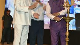 MUMBAI, (GNI): L to R - RN Dhoot (Member of Parliament), Rajiv Jalota (Commissioner - Sales Tax, Maharashtra), Sudhir Mungantiwar (Minister of Finance and Planning, Government of Maharashtra, in Mumbai - photo by GNI