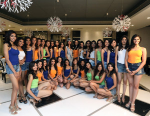 MUMBAI, (GNI): Reigning Miss World 2016, Stephanie Del Valle at the Meet and Greet session with FBB Colors Femina Miss India 2017 contestants The Empresa Hotel, Andheri - photo by Sumant Gajinkar