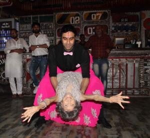 Sandip Soparrkar with Tao Porchon Lynch during dance
