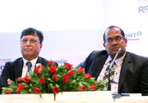 MUMBAI, (GNI): Dr. Lekh Raj Juneja - Executive Vice President Rhoto Pharma Pvt. Ltd.  with B.L. Mittal - Founder & Executive Chairman , Sastasundar Healthbuddy  Ltd. at press conference in Mumbai