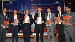 "MUMBAI, (GNI): L-R: Abhishek Lodha, Managing Director,Lodha Group Niranjan Hiranandani, Co Founder & Managing Director,Hiranandani Group Neel Raheja, Group President,K Raheja Corp Anthony Couse, CEO – JLL APAC Rishi Bagla,Chairman, CII Maharashtra State Council Dr Saugat Mukherjee, CII Regional Director Ramesh Nair, Chairman, CII Realty & Infrastructure Conclave and CEO & Country Head JLL India at CII Realty & Infrastructure Summit : ""The Turning Point of India Real Estate"" – Decoding Opportunities, Trends and Expectations to manoeuvre 2017 onwards, in Mumbai - Photo by Sumant Gajinkar"