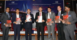 "MUMBAI, (GNI): L-R: Abhishek Lodha, Managing Director,Lodha Group Niranjan Hiranandani, Co Founder & Managing Director,Hiranandani Group Neel Raheja, Group President,K Raheja Corp Anthony Couse, CEO – JLL APAC Rishi Bagla,Chairman, CII Maharashtra State Council Dr Saugat Mukherjee, CII Regional Director Ramesh Nair, Chairman, CII Realty & Infrastructure Conclave and CEO & Country Head JLL India at CII Realty & Infrastructure Summit : ""The Turning Point of India Real Estate"" – Decoding Opportunities, Trends and Expectations to manoeuvre 2017 onwards, in Mumbai - Photo by Sumant Gajinkar"