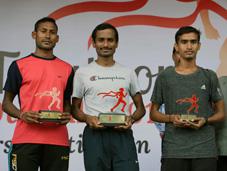 Mens 10K Winners, 1st Swapnil Sawant, 2nd Sachin Grote, & 3rd Ashish Sapkal