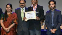 L to R - Deepa Shetty - Principal - GBMS, Shri Vivek Phansalkar- Additional Director General, ACB, Bhavya Shah - Best Delegate JCC 2017, Nirvaan Birla - Head of Business Development - Birla Edutech