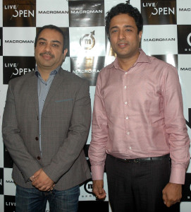 MUMBAI, (GNI): Vikash Agarwal, President & Brand Director of Macroman & Macrowoman (R) with Paritosh Srivastava, Chief Operating Officer of Publicis Ambience during launch the promotion campaign of Macroman M series and Macrowoman W series in Mumbai on Monday - photo by Sumant Gajinkar