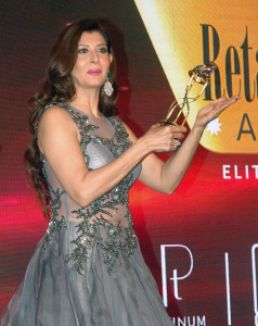 MUMBAI, (GNI): Actors Sangeeta Bijlani during the Gemfields Retail Jeweller India awards event in Mumbai on Saturday evening - Photo by Sumant Gajinkar