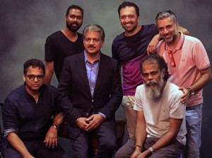 MUMBAI, (GNI): Anand Mahindra with the photographers at the Proud Fathers For Daughters initiative by Mahindra's NGO Nanhi Kali, in Mumbai