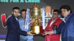 Daanish Hingora, Sohail Khan, Naren Moriani and Rahul Kanal at the TPL Player Auction