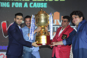 Daanish Hingora, Sohail Khan, Naren Moriani and Rahul Kanal at the TPL Player Auction